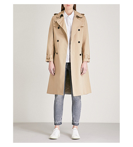 CLAUDIE PIERLOT Double-breasted cotton trench coat (Cream