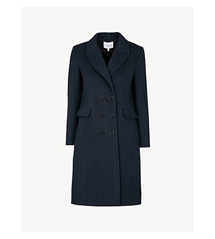 CLAUDIE PIERLOT Wool and cashmere-blend coat (Navy