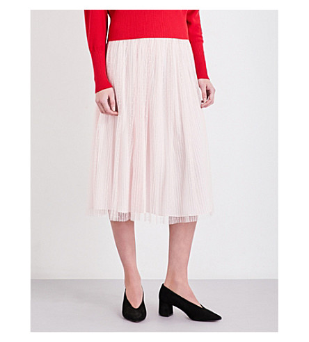 CLAUDIE PIERLOT Scarlet lace skirt (Rose+pale