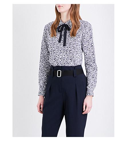 CLAUDIE PIERLOT Castille paisley-print cotton-poplin shirt (Blanc
