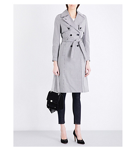 CLAUDIE PIERLOT Gemma dogtooth cotton trench (Ecru
