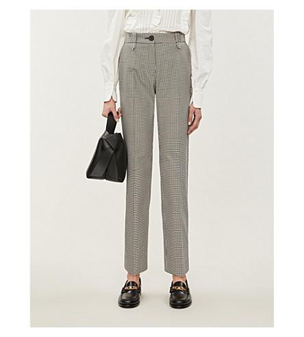 CLAUDIE PIERLOT Papaye cropped cotton-jacquard trousers (Ecru