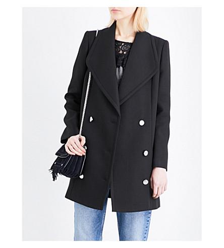 CLAUDIE PIERLOT Gab woven coat (Noir