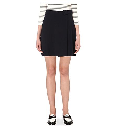 CLAUDIE PIERLOT Spleen crepe skirt (Marine