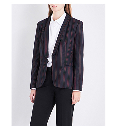 CLAUDIE PIERLOT Pinstripe woven jacket (Marine