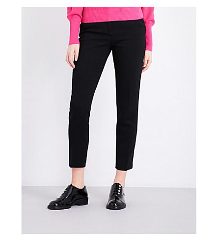 CLAUDIE PIERLOT Tapered-leg crepe trousers (Noir