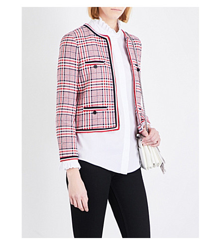 CLAUDIE PIERLOT Vanina tweed jacket (Ruby
