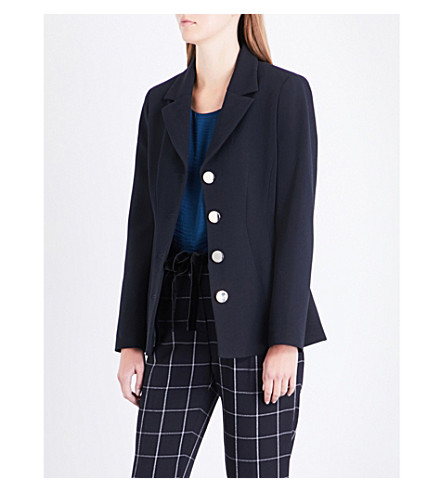 CLAUDIE PIERLOT Vahine woven jacket (Marine