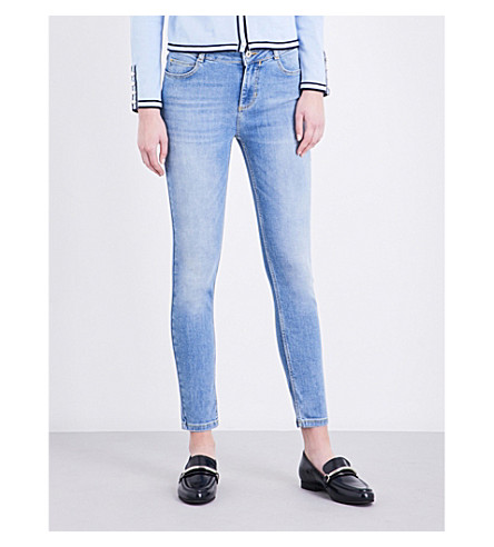 CLAUDIE PIERLOT Paulette skinny mid-rise jeans (Jean