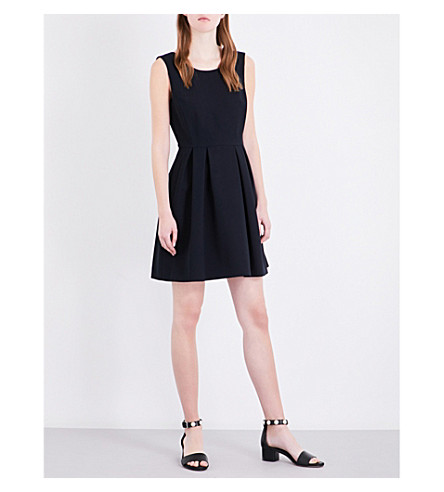 CLAUDIE PIERLOT Robyne crepe dress (Marine