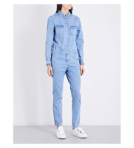CLAUDIE PIERLOT Jules high-neck jumpsuit (Jean