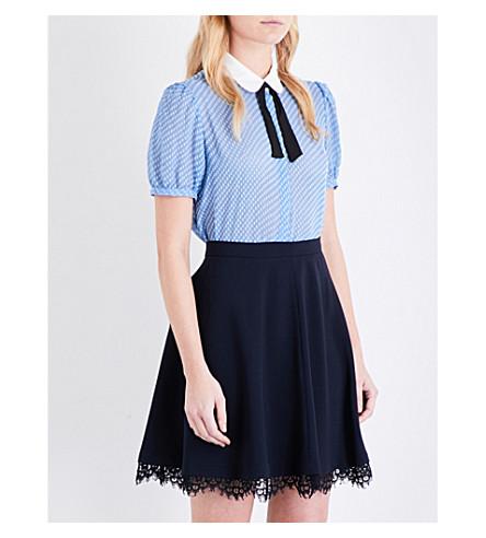 CLAUDIE PIERLOT Canada polka dot fil coupé shirt (Azur