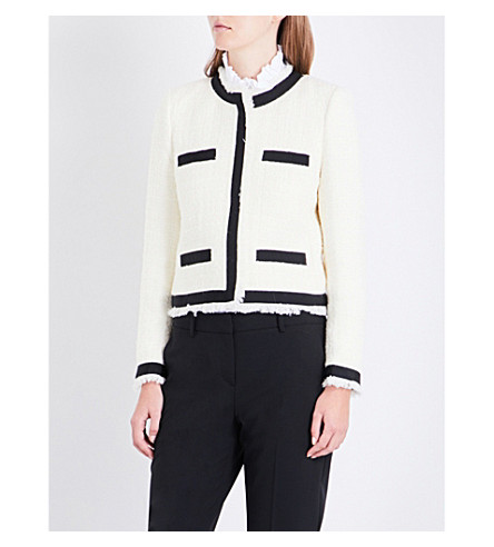 CLAUDIE PIERLOT Vinny tweed jacket (Ecru