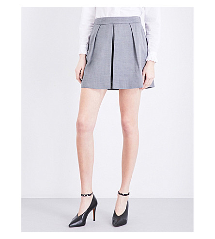 CLAUDIE PIERLOT Energy pleated woven shorts (Anthracite