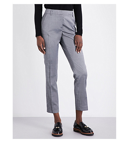 CLAUDIE PIERLOT Persan straight gabardine trousers (Anthracite