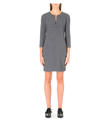 CLAUDIE PIERLOT Ringo stretch-crepe dress (Gris