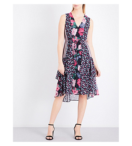 CLAUDIE PIERLOT Radley floral-print crepe dress (Multico