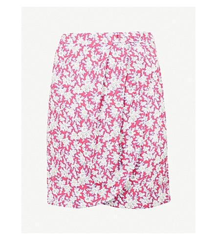 CLAUDIE PIERLOT Floral-pattern crepe mini skirt (Pink