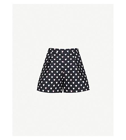 CLAUDIE PIERLOT Heart-print woven shorts (Blue