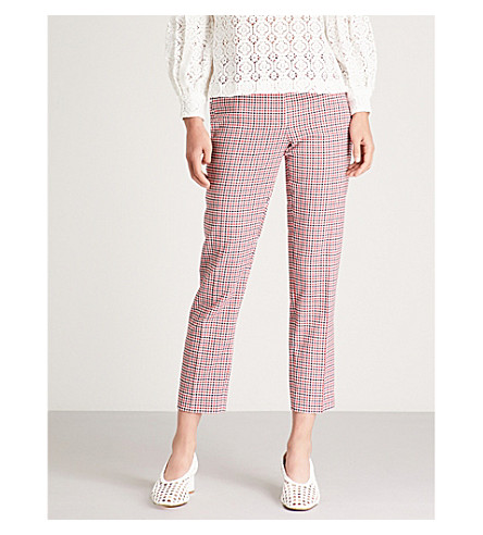 CLAUDIE PIERLOT Peter high-rise crepe trousers (Multico