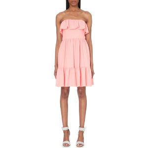 Rousseau strapless woven dress