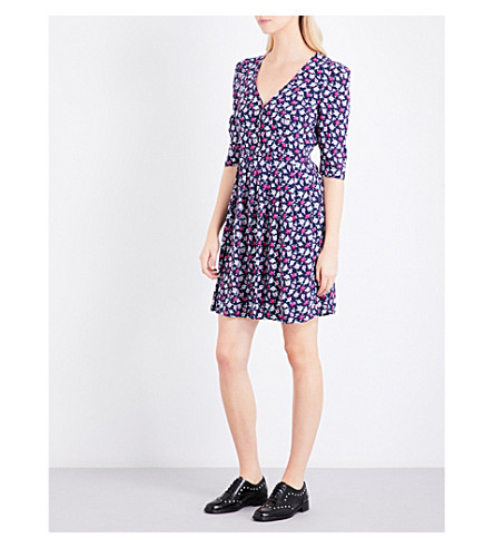 CLAUDIE PIERLOT Queen Bis floral-print crepe dress (Multico