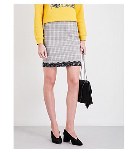 CLAUDIE PIERLOT Suzanne gabardine skirt (Gris