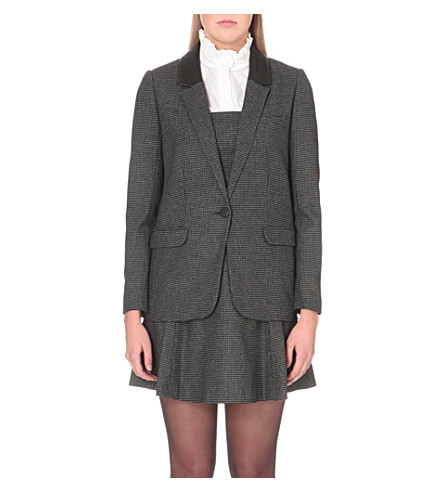 CLAUDIE PIERLOT Verveine wool-blend jacket (Gris+chine