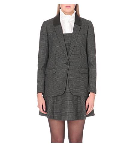 CLAUDIE PIERLOT Verveine wool-blend jacket (Gris+chine