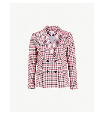CLAUDIE PIERLOT 维克多格纹绉西装外套 (Multico