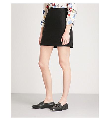 CLAUDIE PIERLOT High-rise woven mini skirt (Black