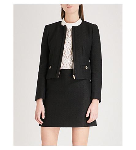 CLAUDIE PIERLOT Cropped tweed jacket (Black
