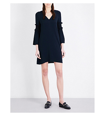 CLAUDIE PIERLOT Republique crepe dress (Marine