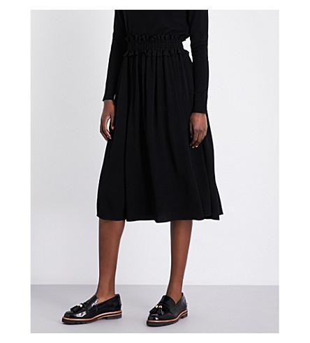 CLAUDIE PIERLOT Style crepe midi skirt (Noir