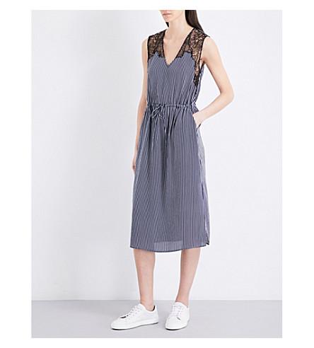 CLAUDIE PIERLOT 稀有条纹绉裙 (海洋