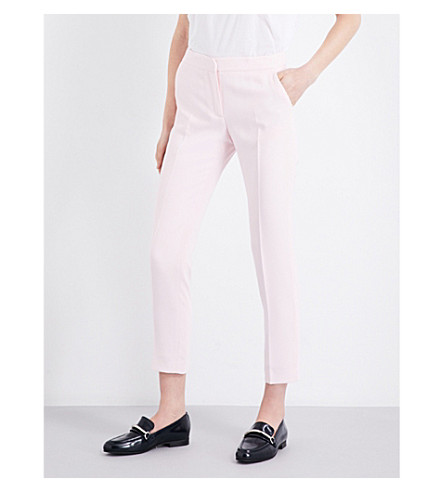 CLAUDIE PIERLOT Pipa crepe trousers (Rose+ceremonie