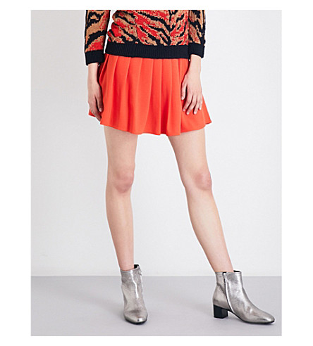 CLAUDIE PIERLOT Sally crepe mini skirt (Orange