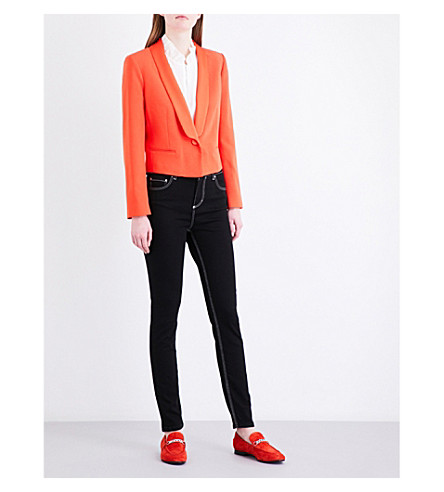 CLAUDIE PIERLOT Valerianne cropped crepe jacket (Orange