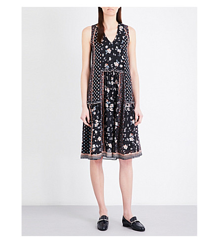 CLAUDIE PIERLOT Rituel chiffon dress (Noir