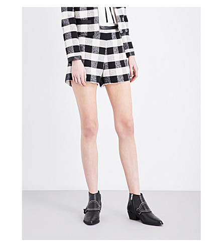 CLAUDIE PIERLOT Eleonore tweed checked shorts (Ecru