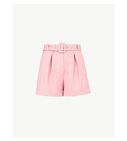 CLAUDIE PIERLOT 高腰编织短裤 (粉红色