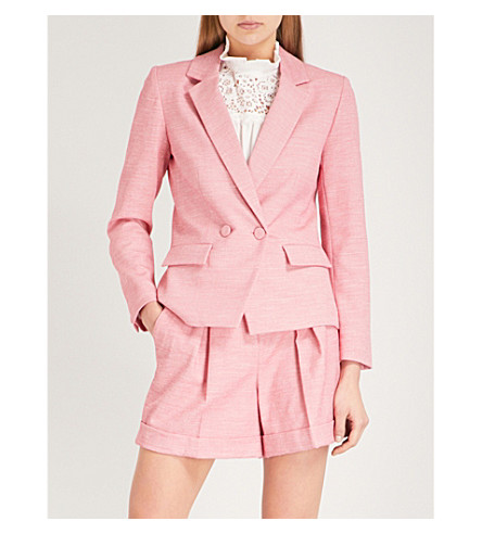 CLAUDIE PIERLOT Textured woven blazer (Pink