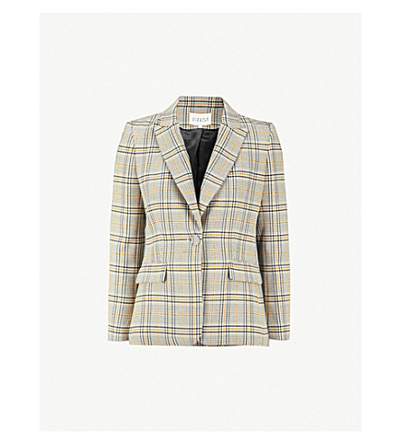 CLAUDIE PIERLOT Valerie checked woven jacket (Multico