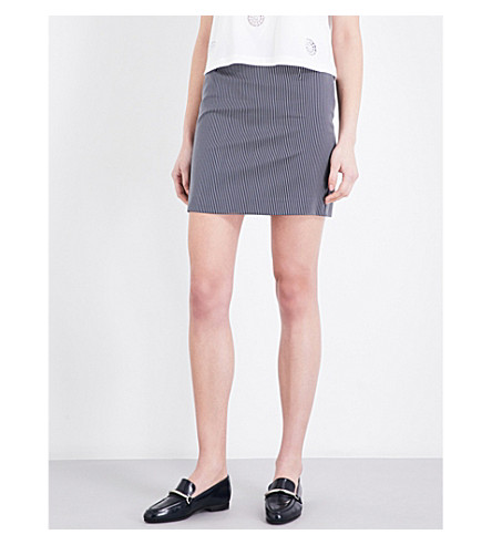 CLAUDIE PIERLOT Smith striped gabardine skirt (Marine