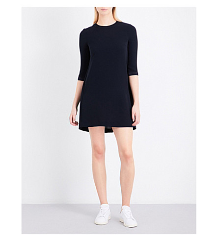 CLAUDIE PIERLOT Pleated crepe mini dress (Marine