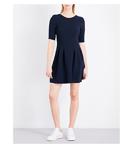 CLAUDIE PIERLOT Roller Bis crepe dress (Petrol