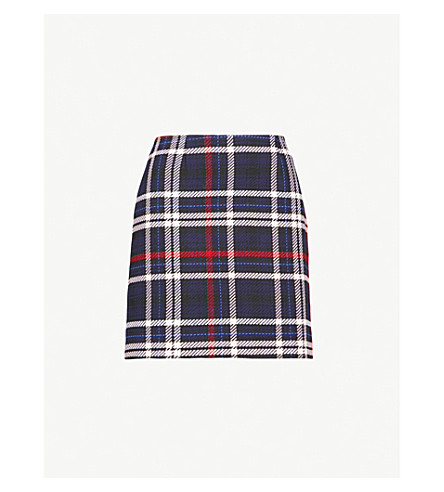 CLAUDIE PIERLOT Checked woven skirt (Blue