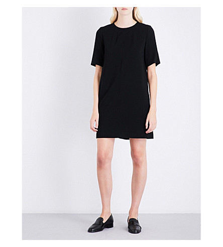 CLAUDIE PIERLOT Bow-detail crepe dress (Noir