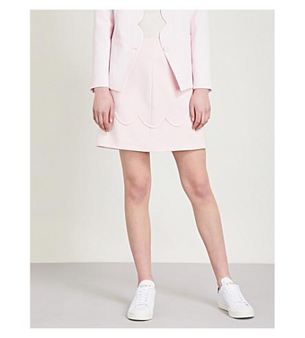 CLAUDIE PIERLOT Scalloped-trim crepe skirt (White