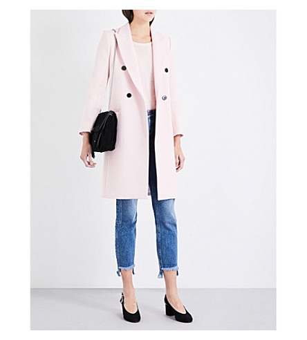 CLAUDIE PIERLOT Gooday cotton-blend coat (Rose+pale